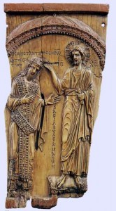 An ivory plaque representing Christ crowning Constantine VII (ca. 945)
